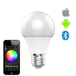 Generic E27 Smart LED Light Bulb Bluetooth Controlled Smart Bulb 4.5W RGBW Lamp Rhythm Flash Screw Light -