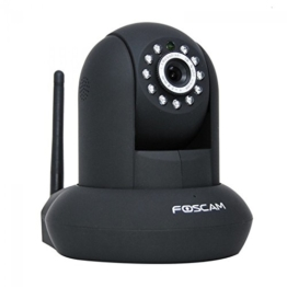 [Neu P2P Technik]Foscam FI9831P HD IP Kamera,  WiFi WLan zwei-Wege Audio Plug and Play mit eingebautem Mikrophon, Motion Detection, Email Alarm, kostenfrei DDNS, SD Karte unterstützen, (1,3 Megapixel, WLAN, 1280 x 960 Pixel), Schwarz -