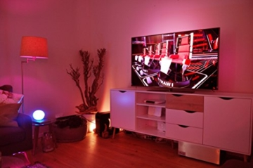 Philips Hue LightStrip+ 16 Mio Farben (Basis Set ohne Bridge), EEK A, 2m, flexibel erweiterbar, ultrahell max 1600 Lumen -