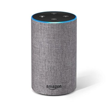 Das neue Amazon Echo (2. Generation), Hellgrau Stoff -