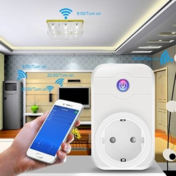 wifi steckdose elegiant smart wifi wlan home steckdose intelligente funksteckdose wifi adapter. Black Bedroom Furniture Sets. Home Design Ideas